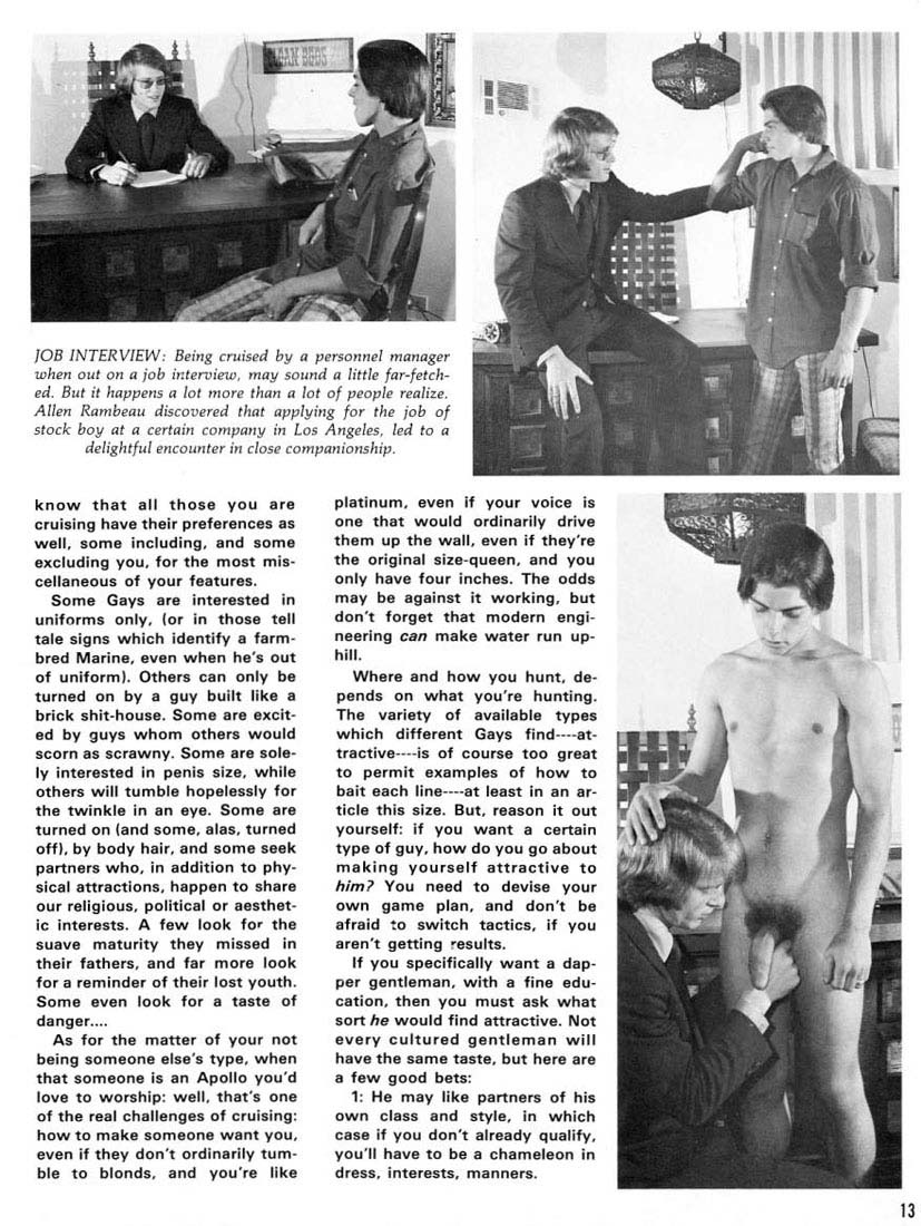 The Fine Art of Cruising 1975 gay sex guide