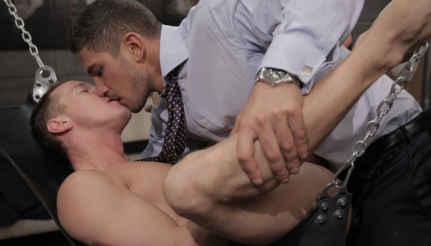 Suit And Tie On Sofa Gay Sex First Time