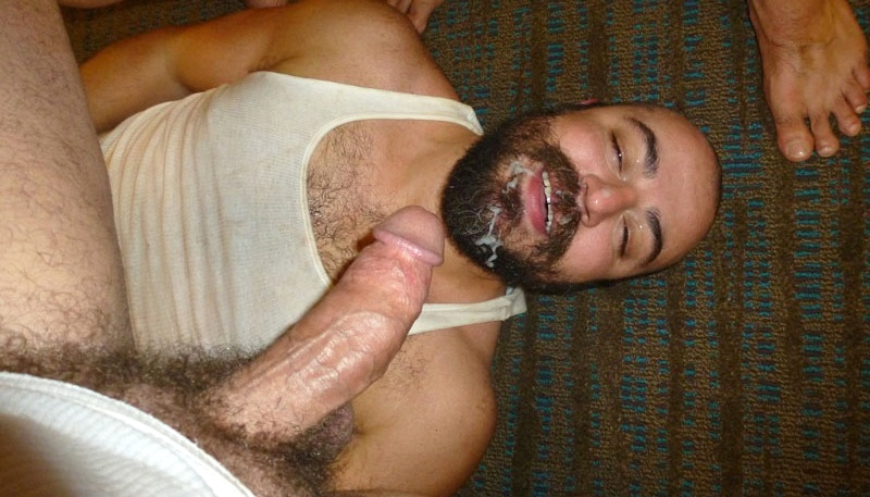 from Felipe hairy horny bald gay bear sucking and fucking fat gay