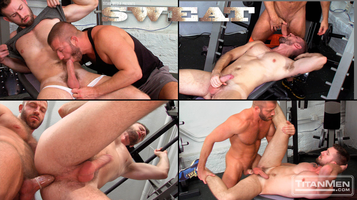 Troy Daniels and Hunter Marx in Sweat by gay porn studio Titan Men