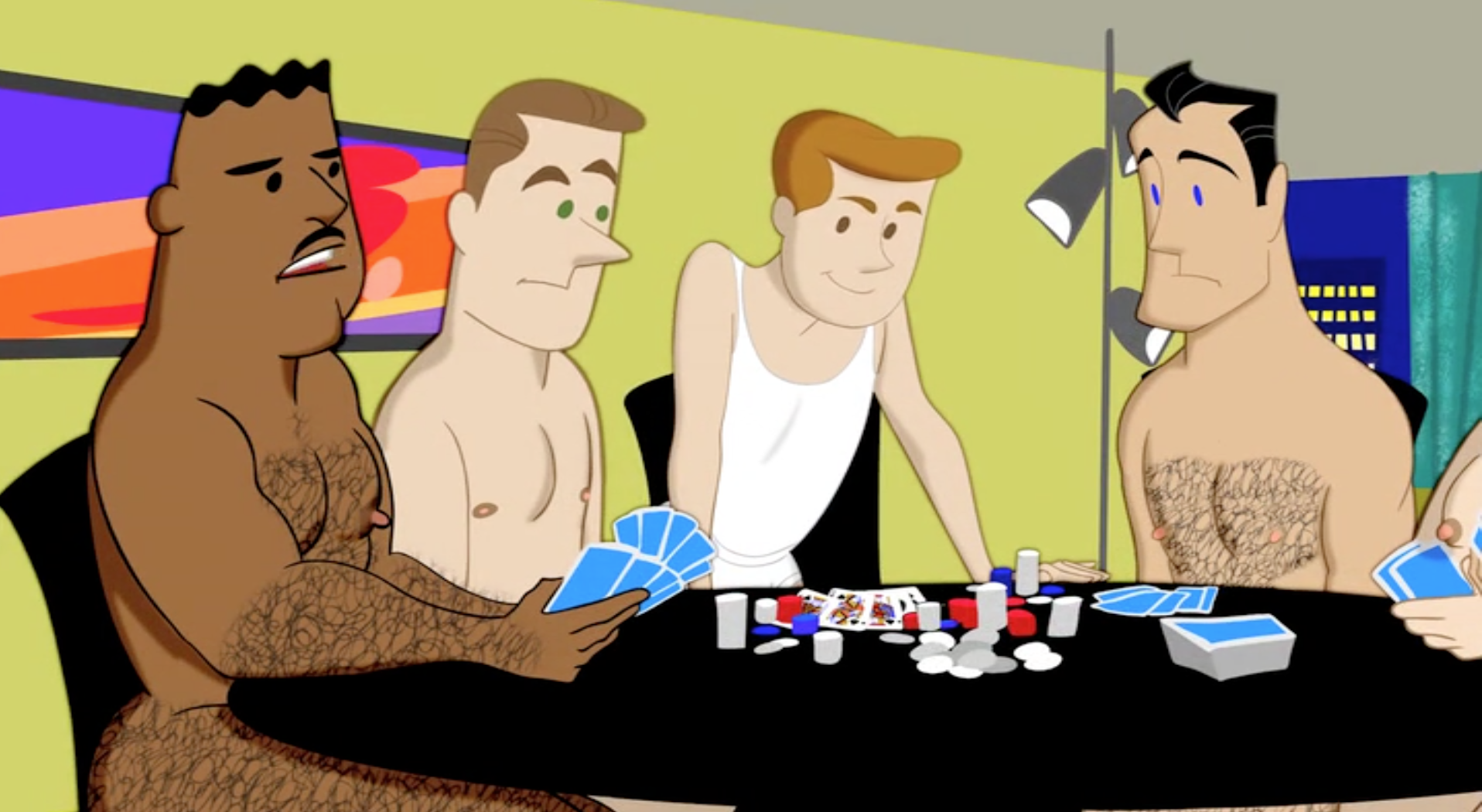 games porn gay poker