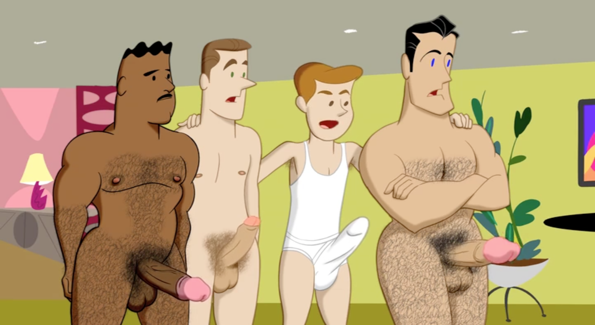 cartoon naked games