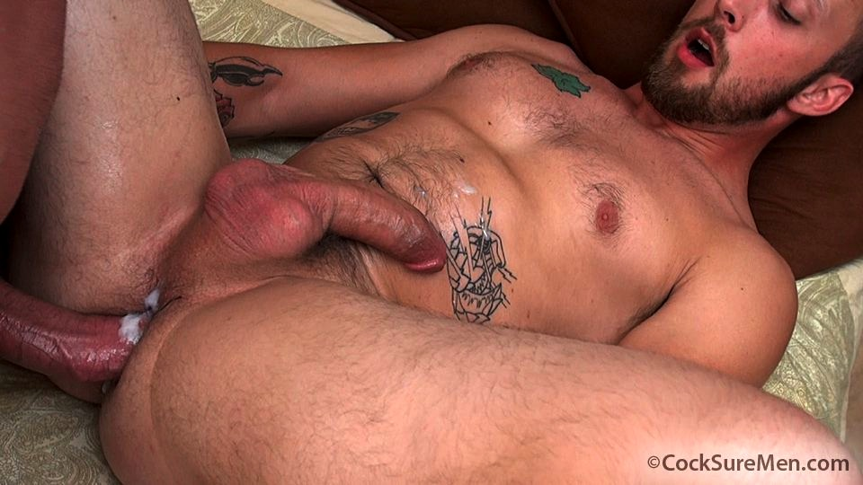 Brett Bradley fucks Dustin Steele bareback in a cowboy hat for gay porn site Cocksure Men.