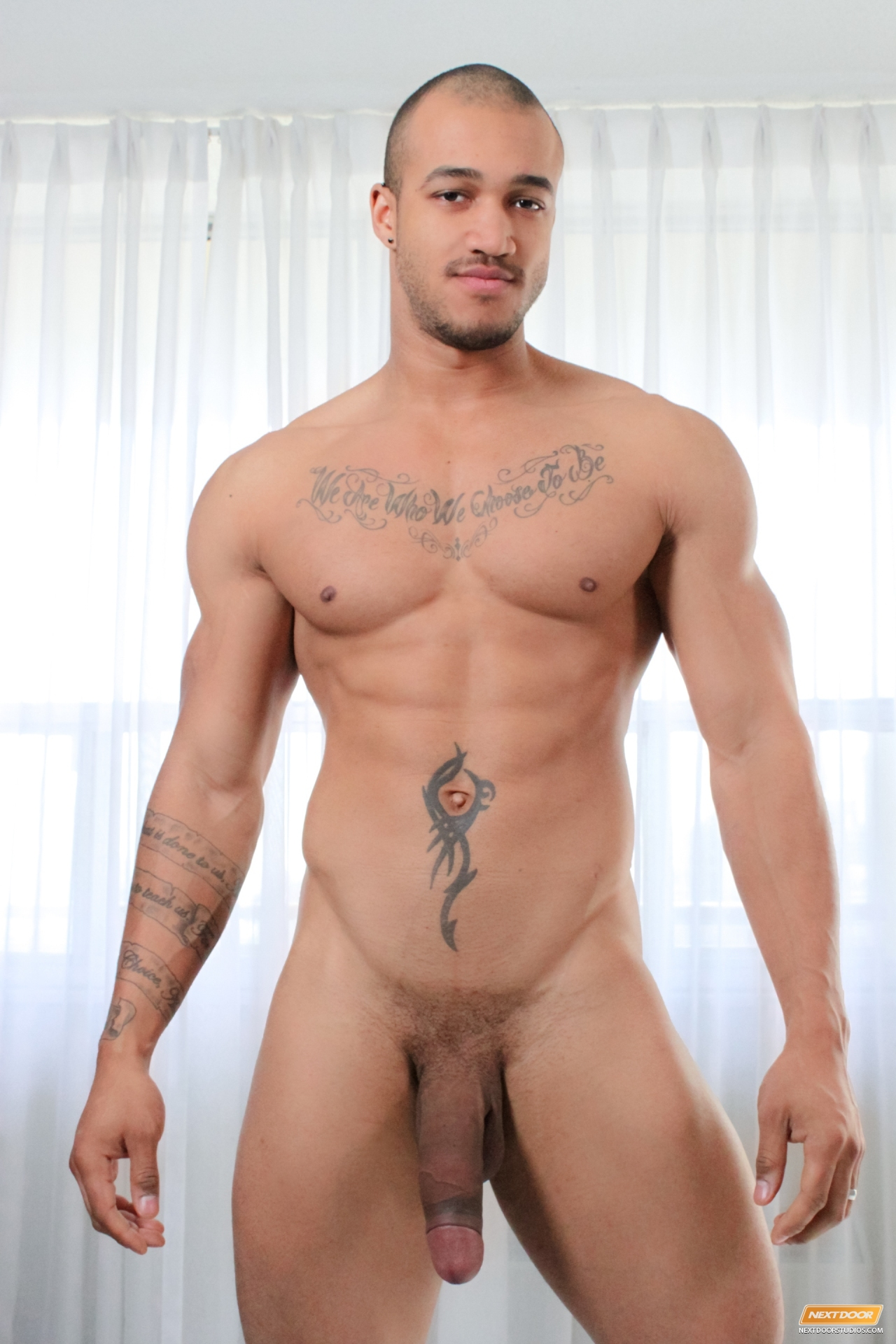 Kiern Duecan and Zane West fuck Damian Brooks in a threesome for gay porn site Next Door Ebony.