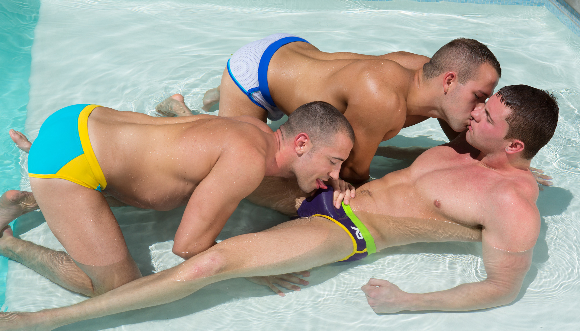 from Karson naked guys in the pool having porn
