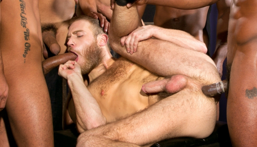 Gay huge cock orgy