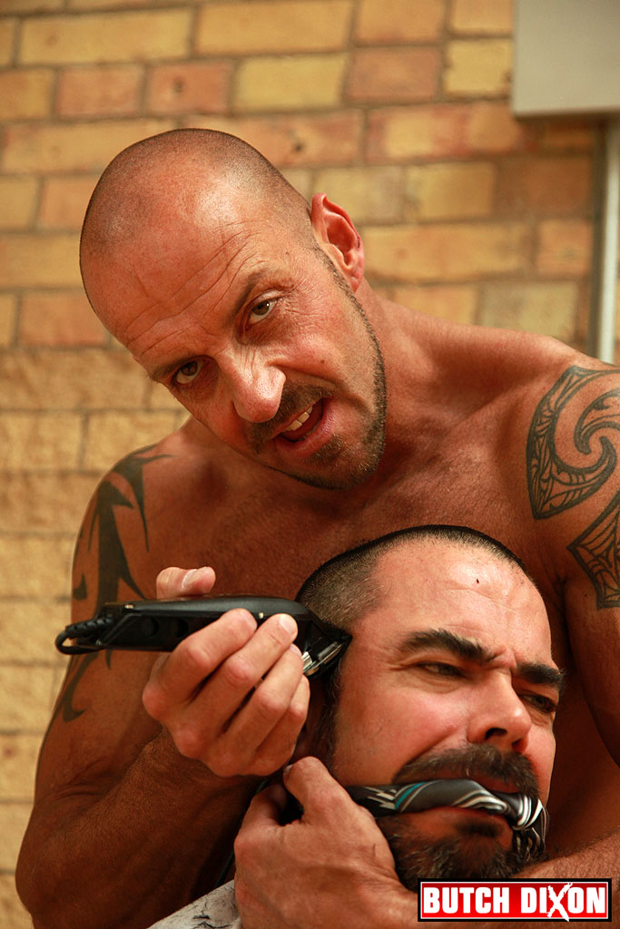 Haircut Gay - Brock Hatcher fucks and fists Dolan Wolf in a kinky gay porn BDSM fetish  scene.