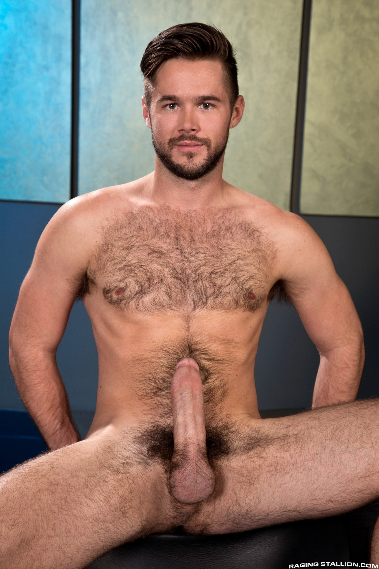 hunks Handsome nude hairy