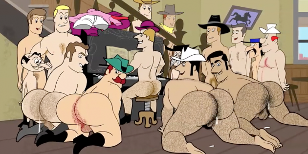 Drawn To You: Animan's Cum-Dripping Cowboy Orgy
