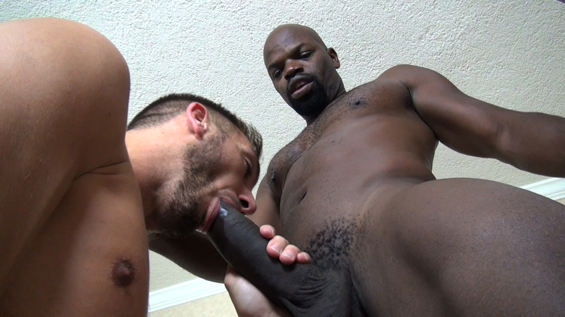 Gay big cock interracial ass fuck and cumshot