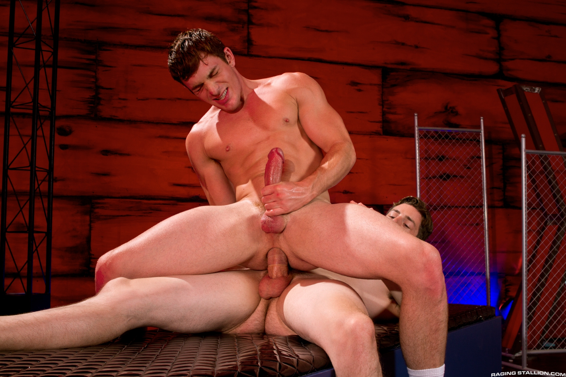 Incredible cock Brent Corrigan bottoms for Andrew Stark in the gay porn film America's  Finest by Falcon Studios