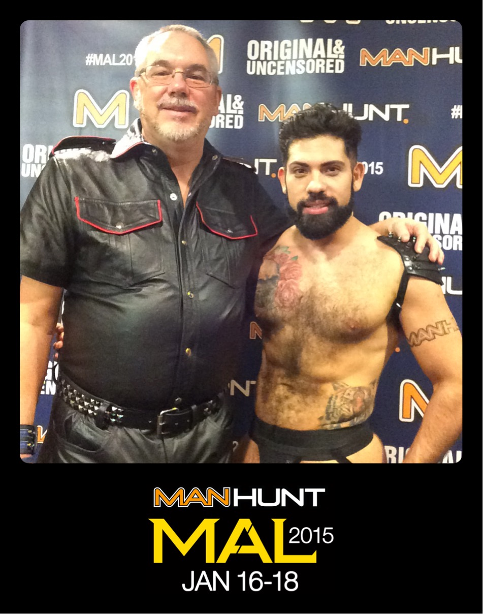 The Manhunt booth at MAL2015 with gay porn stars Dirk Caber, Jesse Jackman, Tommy Defendi, Deviant Otter, Alessandro Del Toro, Zaac Caaz and more.