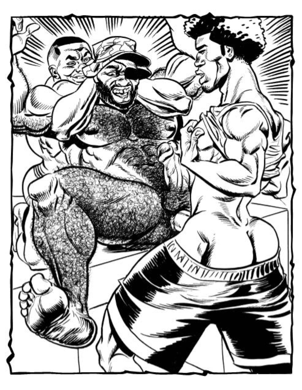 hairy gay cartoon art