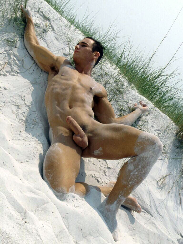 Men on nude beach