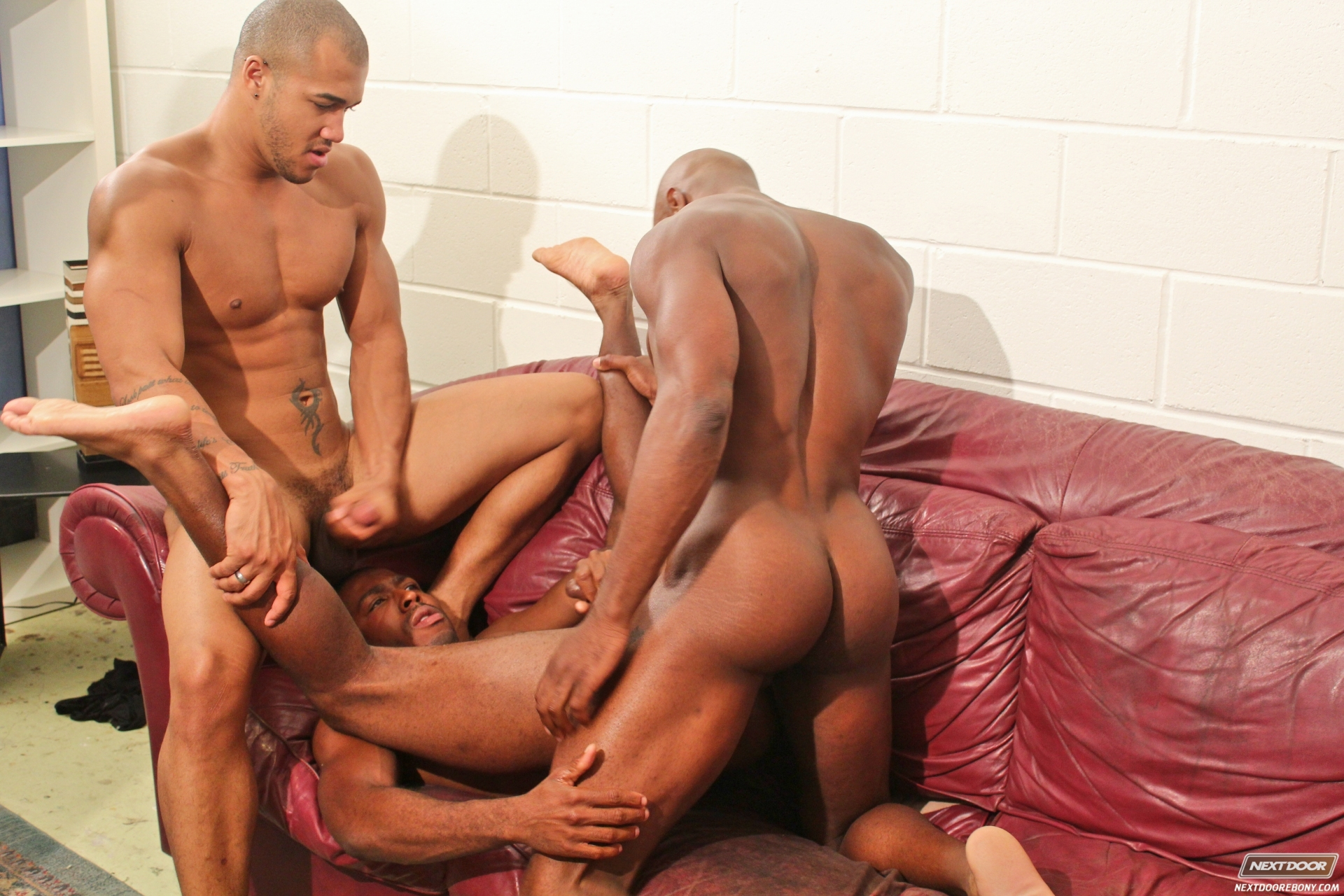 threesome mix gay